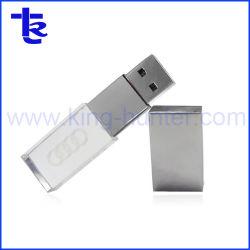 Cristal ouro unidades USB Memory Stick melhor presente personalizado personalizada