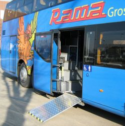 Le chargement de la rampe pour fauteuil roulant rampe pour fauteuil roulant électrique de bus avec certificat CE