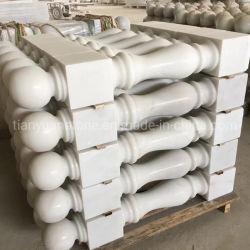 Asta della ringhiera di marmo bianca dell'inferriata per la decorazione esterna