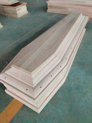Estilo italiano clássico Ccasket Paulownia caixão de madeira