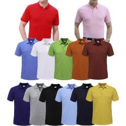 カスタム印刷の平野の人デザイン乾燥した適合のポロのTシャツは刺繍のブランクゴルフメンズ綿のポロシャツを卸し売りする