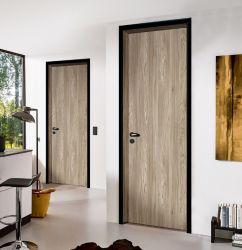 Jambage de porte en bois de partition en aluminium