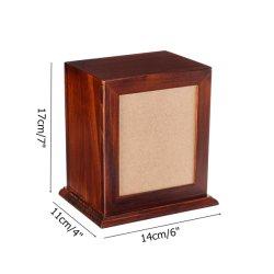 De in het groot Begrafenis Houten Urnen van de Crematie van het Huisdier van de Kist voor het Dierlijke Mini Houten Huisdier Urnas van de As
