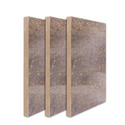멜라민 돌 곡물은 MDF 널 벽면을%s 브라운에 의하여 직면된 매끄러운 MDF 널을 직면했다