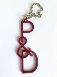 Métalliques personnalisées clé alphanumérique de chaîne de clé de la chaîne d'articles promotionnels Bricolage cadeau