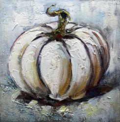 Arte artesanal de abóbora pintura a óleo para decoração de Páscoa
