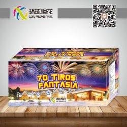 0.8Inch 70тирос Fantasia потребительских этапа празднования торт фейерверк