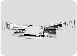 Matelas bande frontalière Double pli liaisons pour machine à coudre de polarisation
