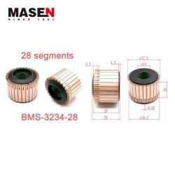 Hersteller-Förderung 37.5 x 14 X.25 (29) 28 Segment-Schlitz-Typ 11e elektrischer Winkel-Schleifer-Kommutator der Auswahl-180