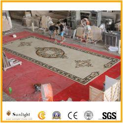 Pierre naturelle de haute qualité du sol en marbre Waterjet Médaillon de plancher