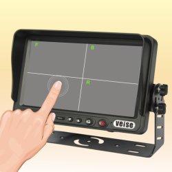 """7""""numérique TFT LCD moniteur à écran tactile avec pare-soleil amovible"""