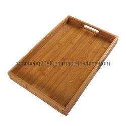 Madeira personalizadas chá personalizados alimentar servindo Tstorage Bambu Bandeja de madeira