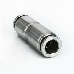 Unità di elaborazione diritto tramite il connettore rapido pneumatico PU4 PU6 PU8 PU10 PU12 PU14 PU16 dell'acciaio inossidabile del tubo di aria dell'inserto rapido 304