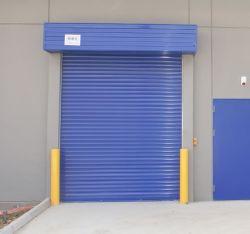 Industrieller Außengi-Rollen-Blendenverschluß galvanisierte Stahleisen-Feuer-Nennfeuerverhütung-feuerfeste Walzen-Blendenverschluss-automatische Sicherheits-Metalleintrag-Garage-Tür