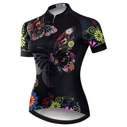 La mujer DE MANGA CORTA Camiseta de ciclismo de carretera de montaña bicicleta MTB de ropa de deporte de verano Tops Jersey
