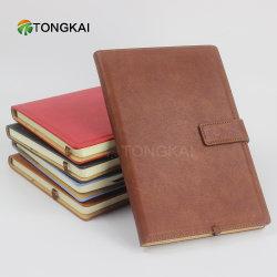 Tongkai Geschäfts-Leder im auf lagernotizbuch mit magnetischer Faltenbildung