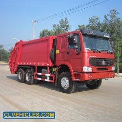 HOWO 6X4 20cbm 쓰레기 압축 분쇄기 쓰레기 트럭 압축은 판매를 위한 차량을 사절했다
