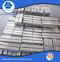 Lega pura raffinata del magnesio dello zinco del metallo 92% di elevata purezza di alta qualità