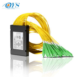 1X2, 1X4, 1X8, 1X16, 1X32, 1X64 PLC Разветвитель оптического волокна, мини-трубы кассета пакет PLC разветвитель FTTB сетей FTTH АБС .