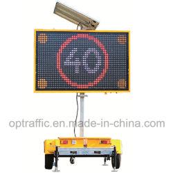 Pb01 Outdoor Mobile Affichage LED 5 couleurs de montage de la remorque de trafic d'énergie solaire LED électronique VMS VMS à message variable enseignes