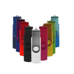 Pendrive de alta velocidad USB 2.0 Flash Drive 4gb OTG Micro 8GB 16GB 32 GB 64 GB de personalizar el logotipo de Metal Memory Stick (10pcs Free Logo)