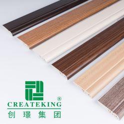 El PVC de pared de rodapié de proveedor chino de la placa base