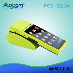 "5.5"" 4G WiFi móvil Handheld Terminal NFC Android POS con impresora"