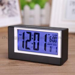 Écran LCD numérique Smart lumière réveil avec veilleuse pour les voyages Accueil