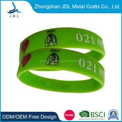Модные лучшее качество водонепроницаемой силиконовой резины ПВХ линейки стопорное браслет светоотражающие взрослых детей работает спортивных мероприятий на запястье бить стопорное ленты с логотипом печать