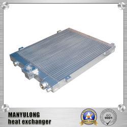 Tipo de aleta de intercambiador de calor para aire del compresor refrigerado por aceite/enfriador de aceite