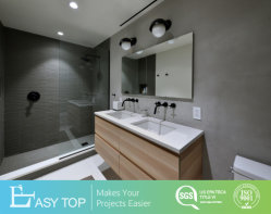 حديثة [بفك] أثاث لازم [كببوردس] حوض محدّد بالوعة علّب جدار غرفة حمّام تفاهة خزانة
