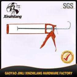 Dupla de alumínio 600ml de pistola de calafetação de salsicha longa usada para forçar a cola cilíndrica