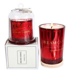 美しいギフト用の箱のドームの蝋燭の自然な大豆のワックスのホーム装飾の香料入りの蝋燭の瓶