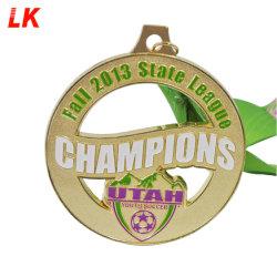 Bon marché de gros Custom métal or Médaille de soccer pour les Champions