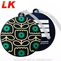 Etichetta per bagagli rotondi in PVC morbido e personalizzato