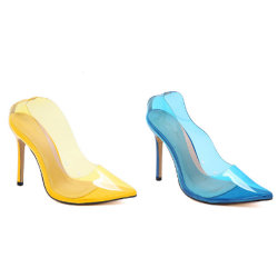 Transparante Schoenen van de Pompen van de Vrouwen van pvc van de fabriek de In het groot Goedkope Duidelijke