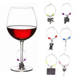 De uitstekende Charme van het Glas van de Wijn van de Juwelen van het Leven van de Textuur Heldere Zilveren Creatieve