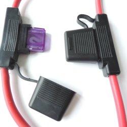 6 BITOLA AWG maxi fusíveis de lâmina Titular Fio Inline 12-24V volt à prova de suporte do fusível