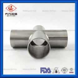 衛生304/316Lステンレス鋼の管付属品の磨かれた溶接の同輩の十字