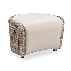 Impermeable Ahorro de Espacio PE Rattan Sofá Footstool Muebles de Jardín