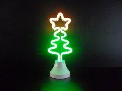 LED de árvore de Natal do estilo novo candeeiro de mesa de luz néon para Férias