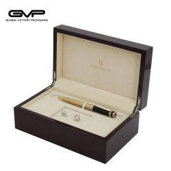 Cassa di legno lucida del contenitore di regalo dell'imballaggio della penna di memoria della penna del contenitore di regalo della penna