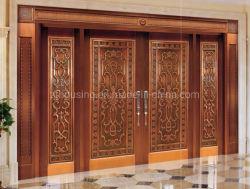 Большой размер роскошный медный металлические стальные двери безопасности для Нигерии Вилла или правительство двери Zf-Ds-032