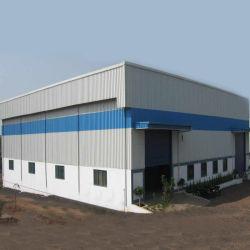 Construção leve de metal da estrutura Gable Construções prefabricadas Depósito de Estrutura de aço industrial