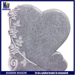 De goede Grafzerk van het Graniet van de Vorm van het Hart van de Stijl van Portugal van de Prijs met nam Snijdend toe