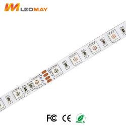 Faible coût de gros de 10mm 60 LED/m 12V 24V SMD 5050 Bande LED Flexible RVB