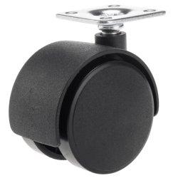 Instalar la placa de muebles de madera, nylon ruedas orientables con orificio de tornillo, Trolley Castor