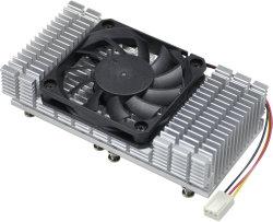 Square disipador de aluminio extruido con ventilador de CPU del equipo
