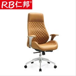 조정가능한 최고 후에 접착된 진짜 가죽 회전하는 Eames 의자 매니저 두목 실무자 의자 20 년은 Fcatory 사무실 의자 도박 기댄다