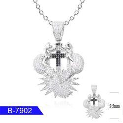 Bijoux en argent avec une haute qualité pendentif plaqué rhodium CZ